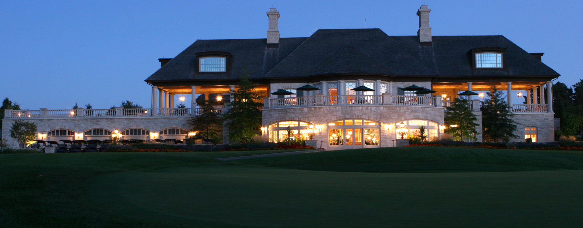clubhouse from the golf course
